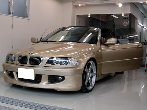 BMW E46 幌コーティング施工。