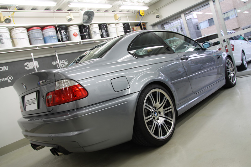 BMW M3(E46) ウィンドウリペアを施工。