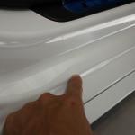 アウディ S5 スポーツバック  ステップ部分へプロテクションフィルム施工。