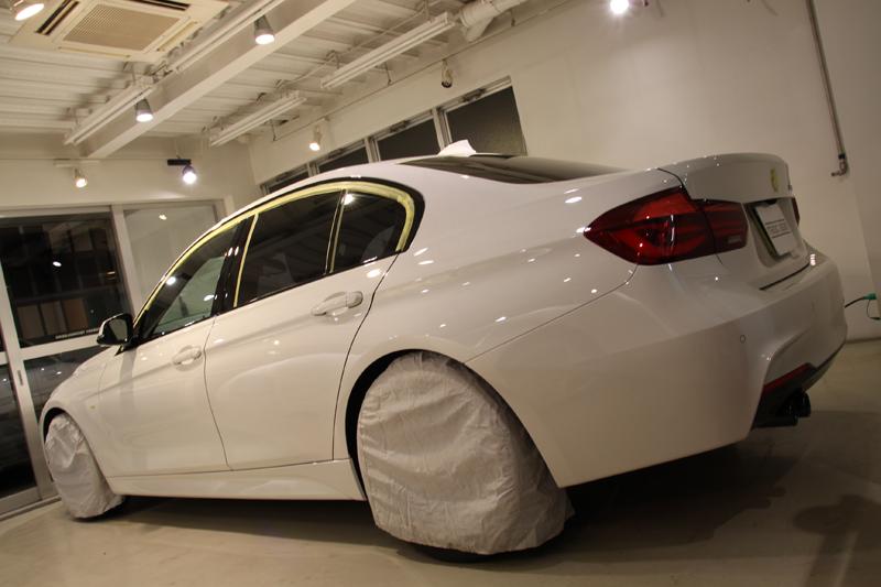スーパープレミアムガラスコーティング施工。BMW 320iMスポーツ