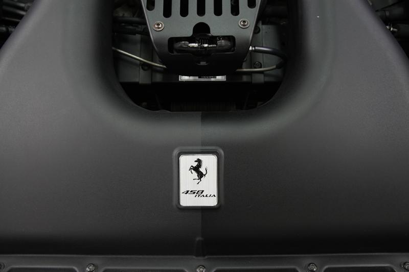 エンジンまわりのコーティング フェラーリ458