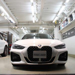 BMW 420iカブリオレ コーティング施工。